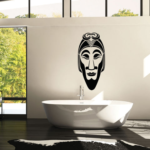 African Mask Wall Decal