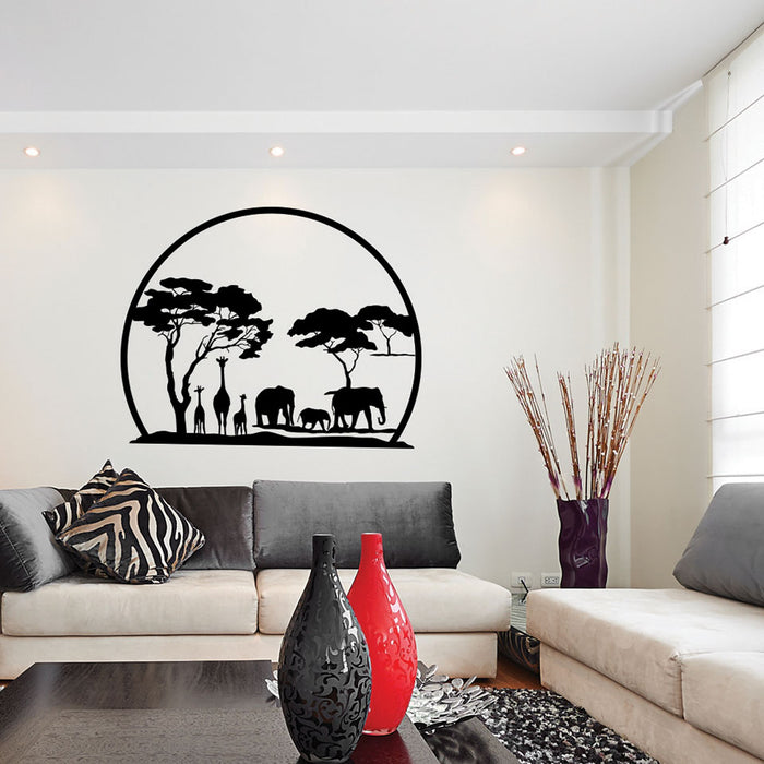 African Panorama Wall Decal