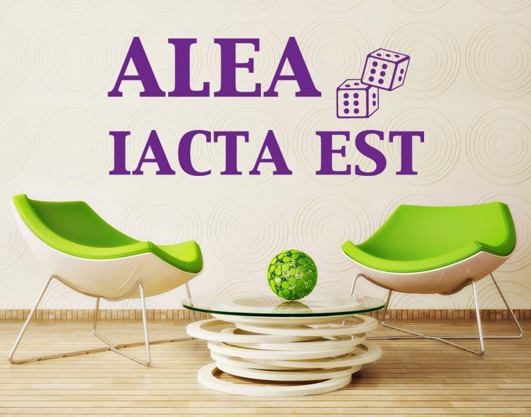 Alea iacta est-Wall Decals-Style and Apply