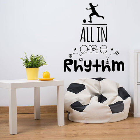 All in one Rhythm Soccer Wall Decal-Wall Decals-Style and Apply
