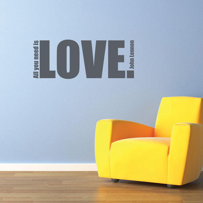 All You Need Wall Decal Quote