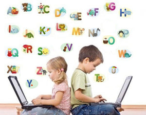 Alphabet Stickers-Wall Decal Stickers-Style and Apply