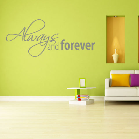 Always and Forever Wall Decal quote