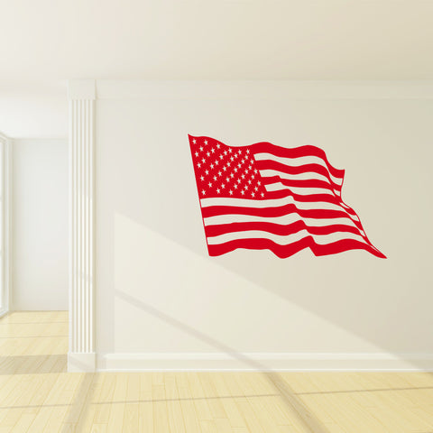 American Flag Wall Decal-Wall Decals-Style and Apply