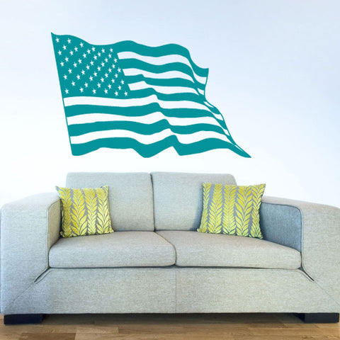 American Flag Decal-Wall Decals-Style and Apply
