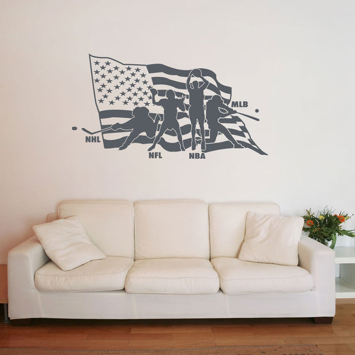 American Sports Wall Decal