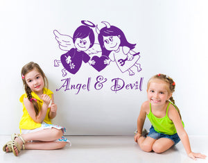 Angel & Devil-Wall Decals-Style and Apply