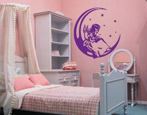 Angel on the Moon-Wall Decals-Style and Apply
