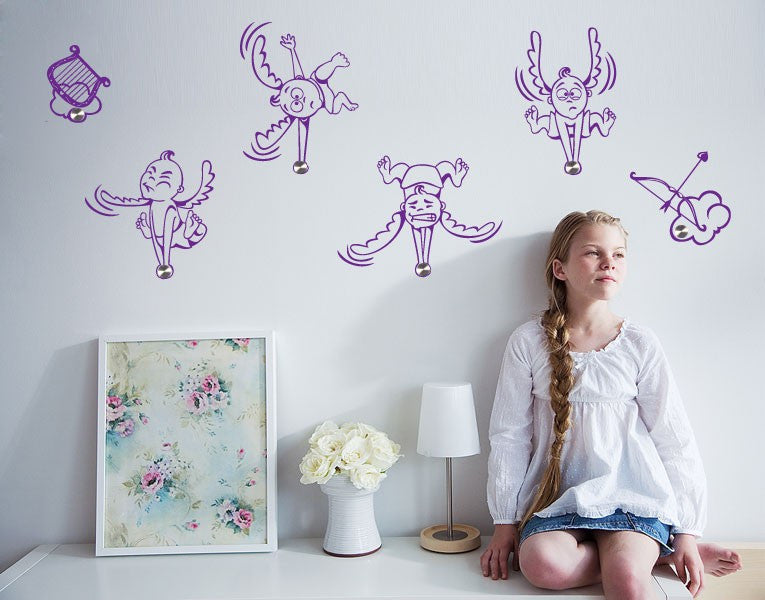 Angels-Wall Decal Hangers-Style and Apply