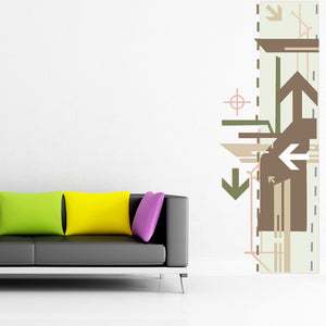 Arrows Decorative Strip Wall Decal-Wall Decal Stickers-Style and Apply