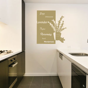 Art of Herbs-Wall Decal