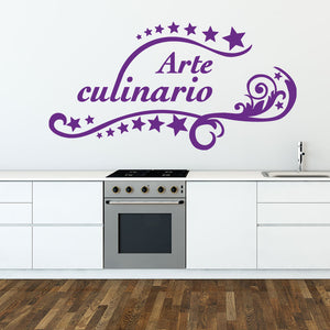 Arte Culinario Wall Decal