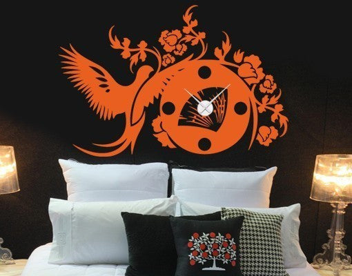 Asian Wall Decal Clock