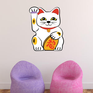 Asian Lucky Cat Wall Decal Sticker
