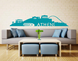 Athens Skyline Decal-Wall Decals-Style and Apply
