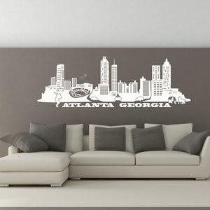 Atlanta City Skyline Wall Decal-Wall Decals-Style and Apply