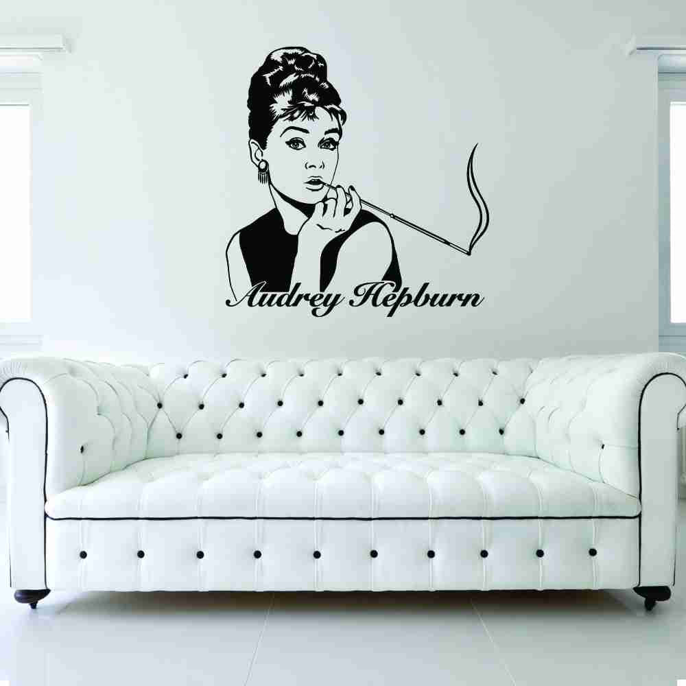 Audre Hepburn Wall Decal-Wall Decals-Style and Apply