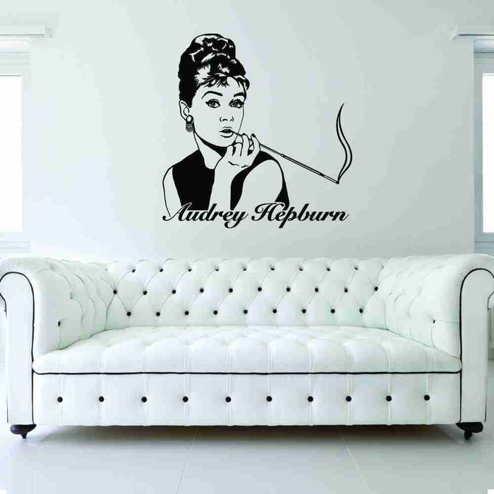 Audre Hepburn Wall Decal