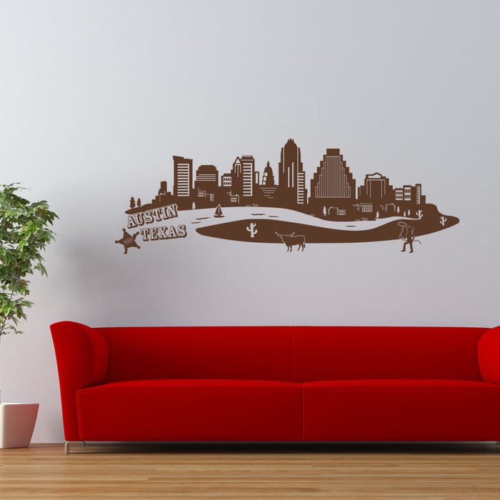 Austin City Skyline Wall Decal