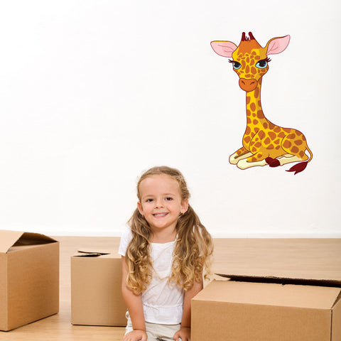 Baby Giraffe Wall Decal-Wall Decal Stickers-Style and Apply