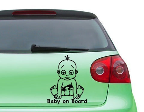Baby on Board-Car Decals-Style and Apply