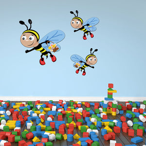 baby Bees Trip-Wall Decal Stickers-Style and Apply