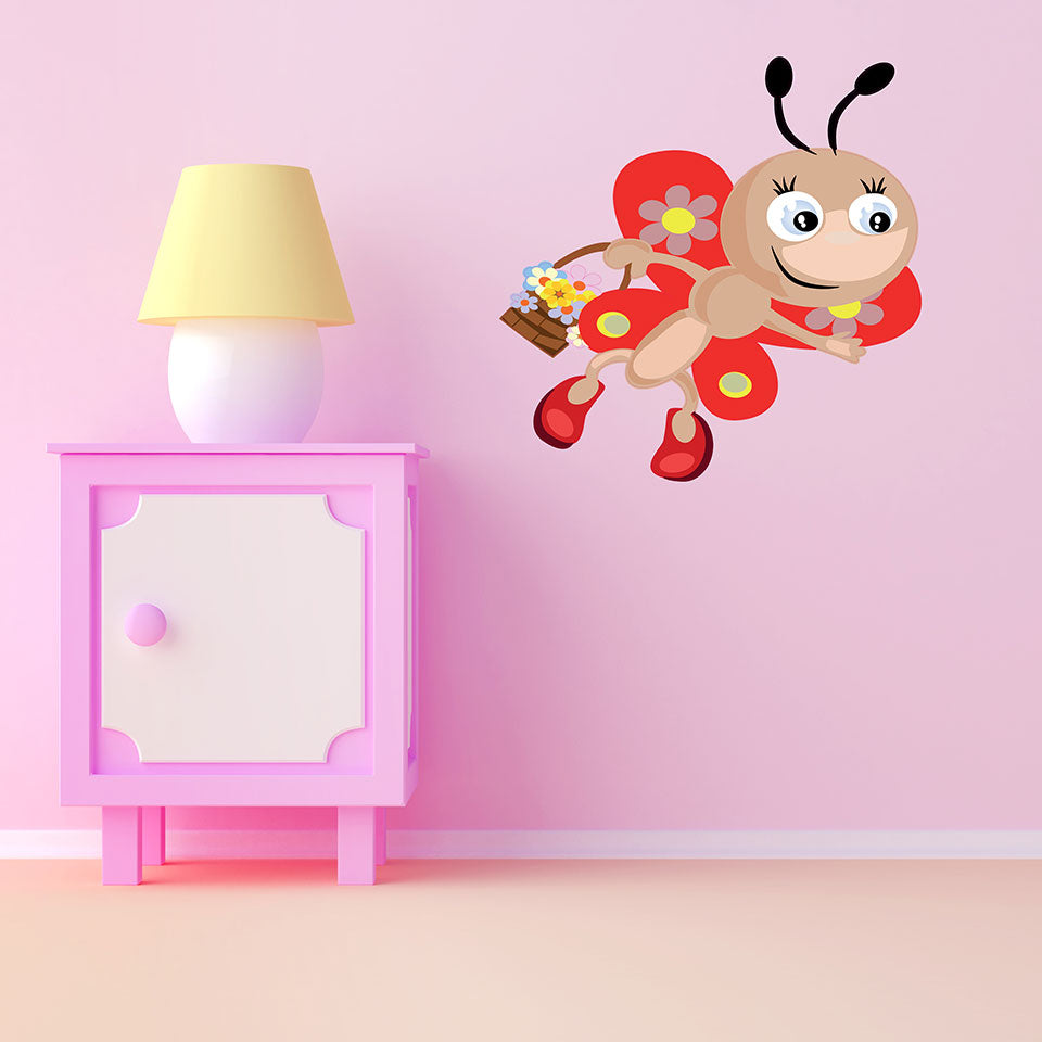 baby Butterfly-Wall Decal Stickers-Style and Apply