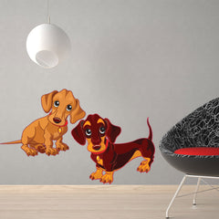 Puppies-Wall Decal Stickers-Style and Apply