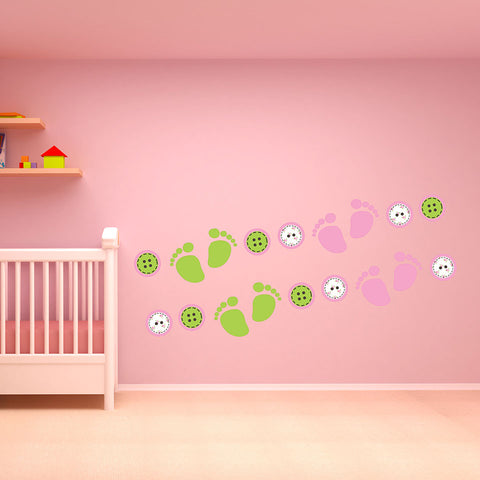 Baby Accents-Wall Decal Stickers-Style and Apply