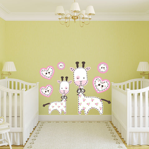 Baby Giraffe-Wall Decal Stickers-Style and Apply