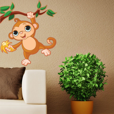 Baby Monkey-Wall Decal Stickers-Style and Apply