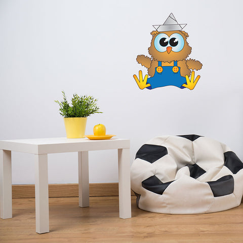 Baby Owl-Wall Decal Stickers-Style and Apply
