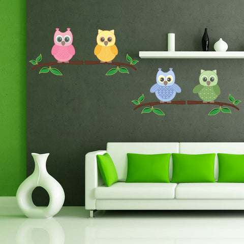 Baby Owl III-Wall Decal Stickers-Style and Apply
