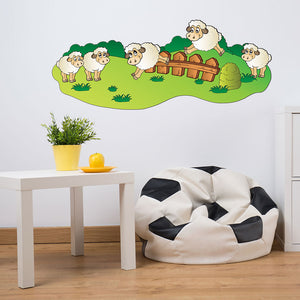 Baby Sheep-Wall Decal Stickers-Style and Apply