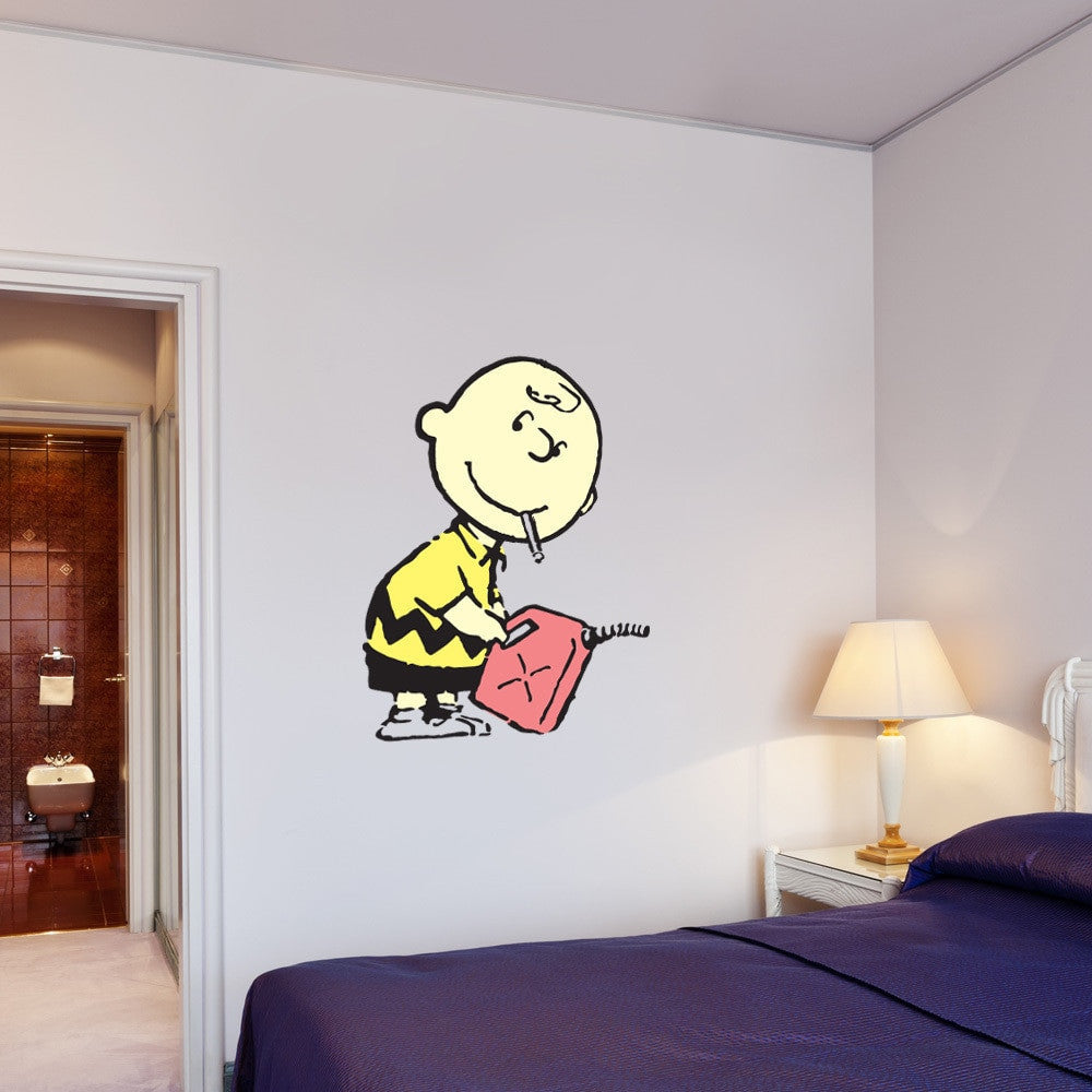 Bad Boy Charlie Banksy Wall Decal Sticker-Wall Decal Stickers-Style and Apply