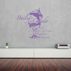 Bailey's Colada-Wall Decal