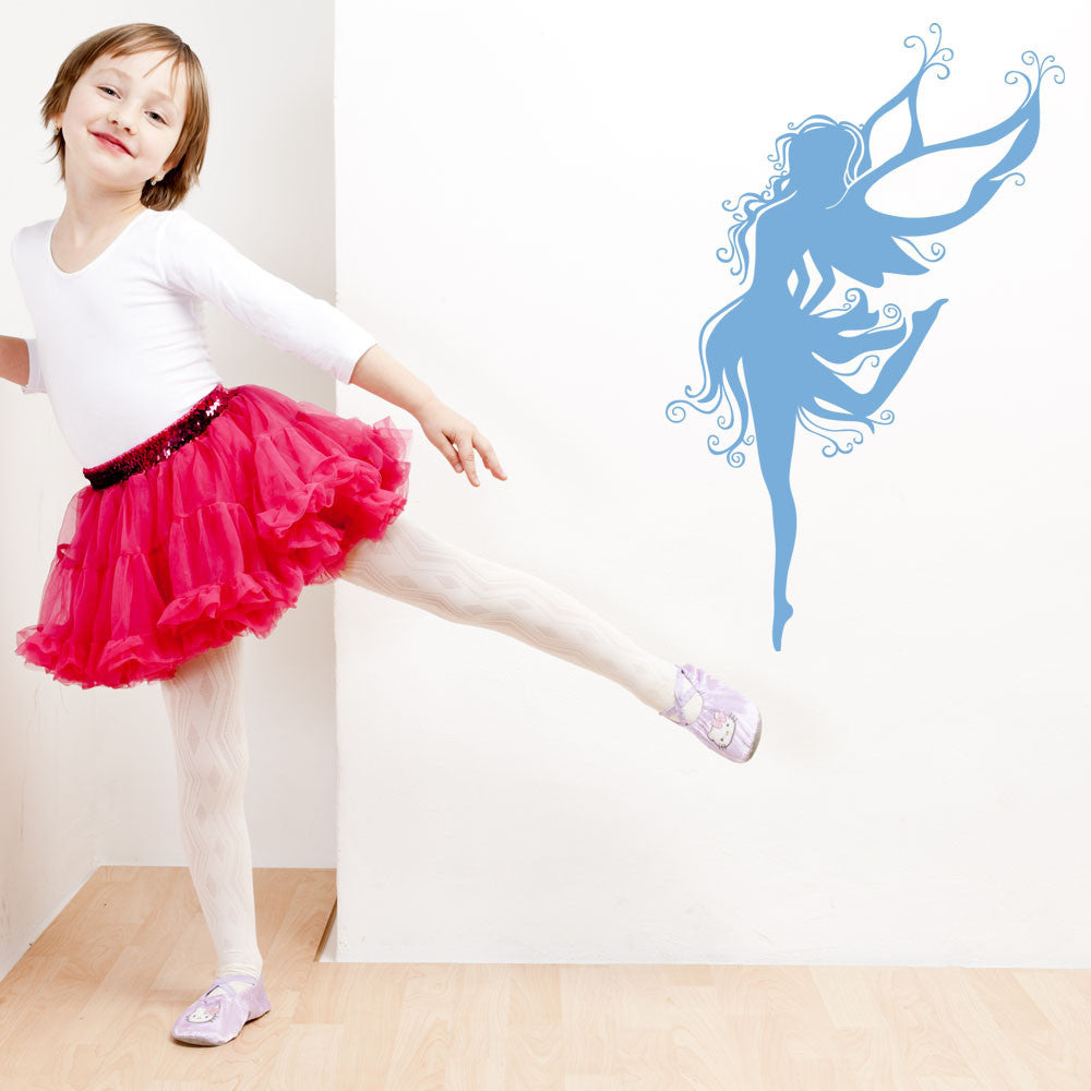 Ballerina Fairy Wall Decal-Wall Decals-Style and Apply
