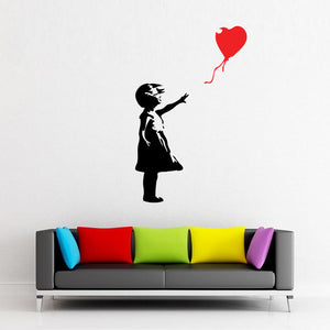 Balloon Girl Banksy Wall Decal-Wall Decals-Style and Apply