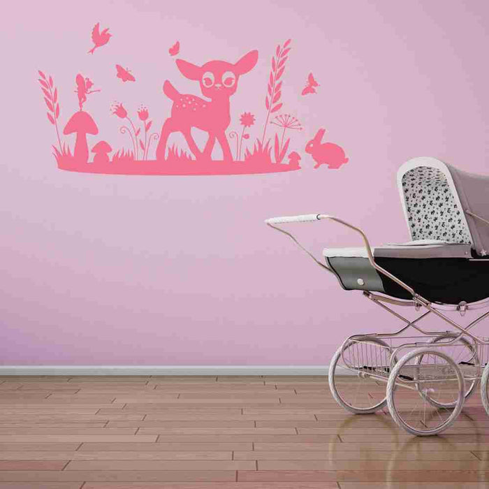 Bambi Deer in Nature Wall Decal