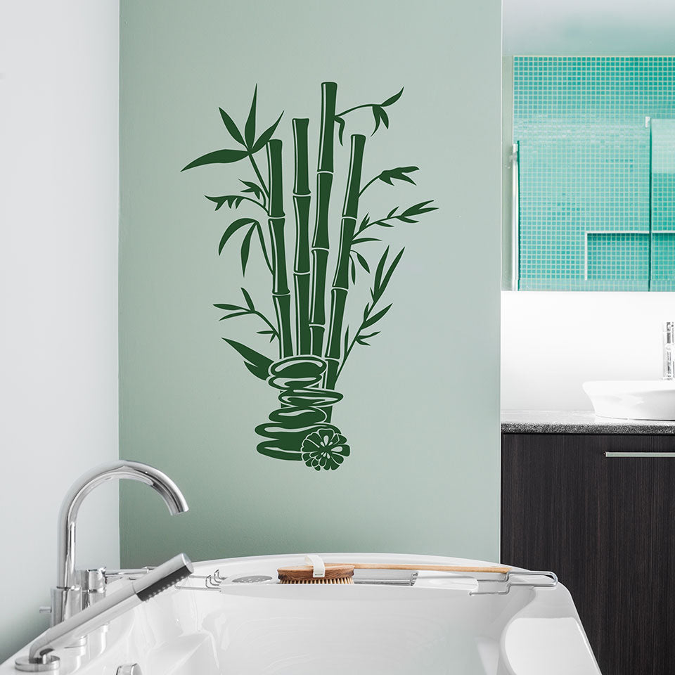 Bamboo Spa Wall Decal – Style and Apply