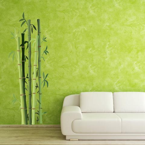 wall decal stickers bamboo bushes wall decal style and apply