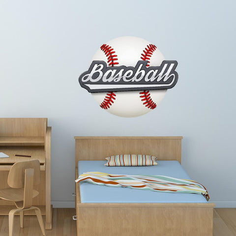 Baseball Wall Decal Sticker