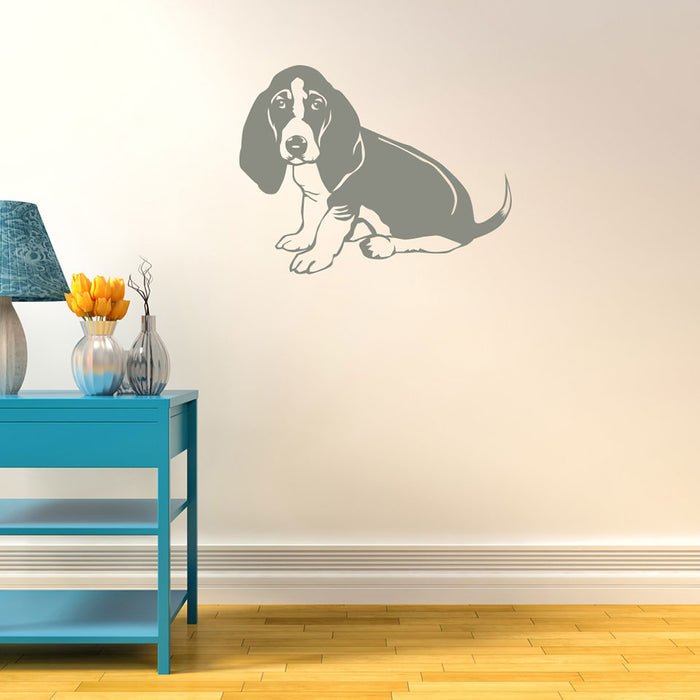 Basset Wall Decal Set