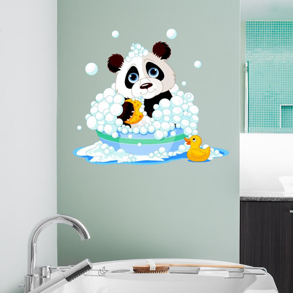 Bathtime Panda Wall Decal Sticker