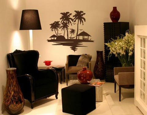 Beach & Palm Trees Decal-Wall Decals-Style and Apply