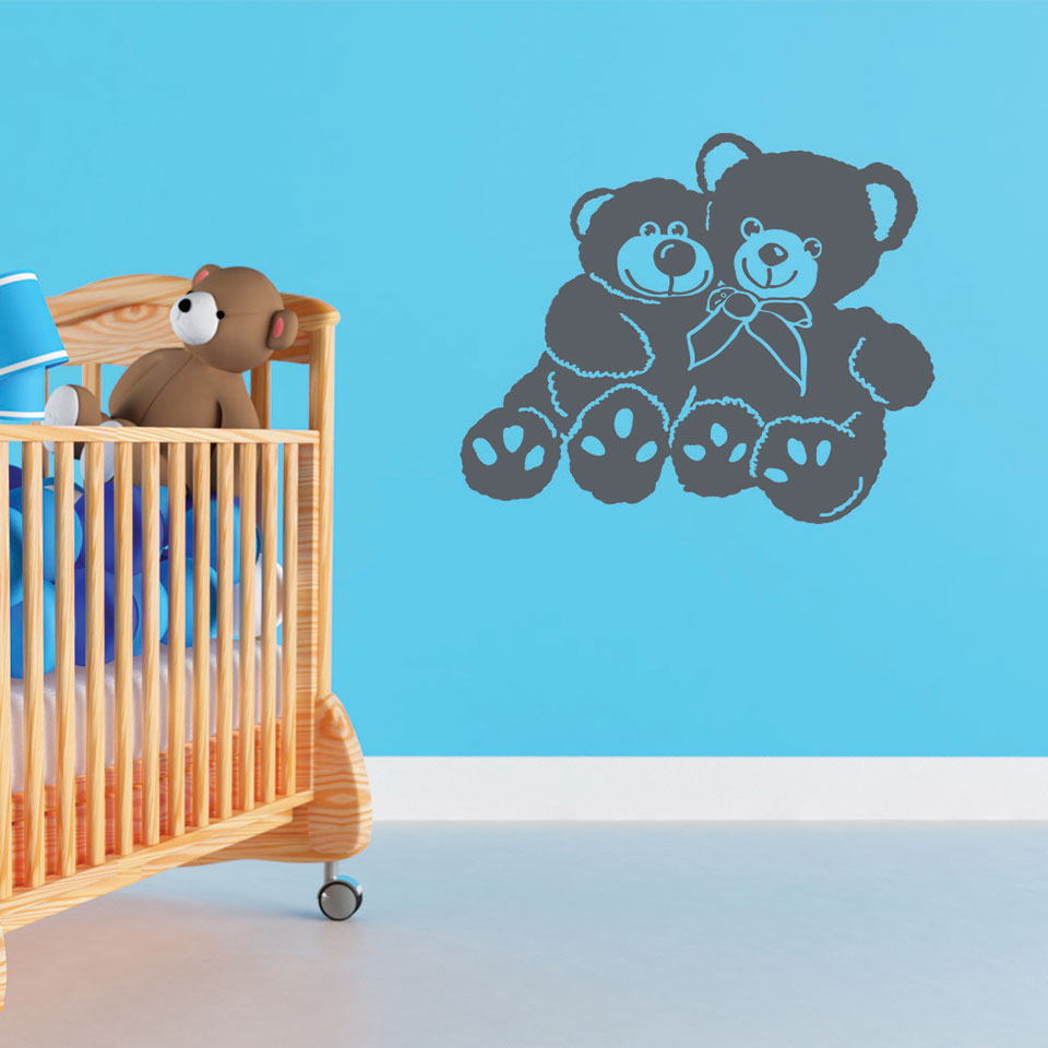Bear Buddies-Wall Decals-Style and Apply