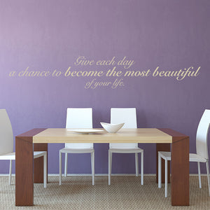 Beautiful Day-Wall Decal quote