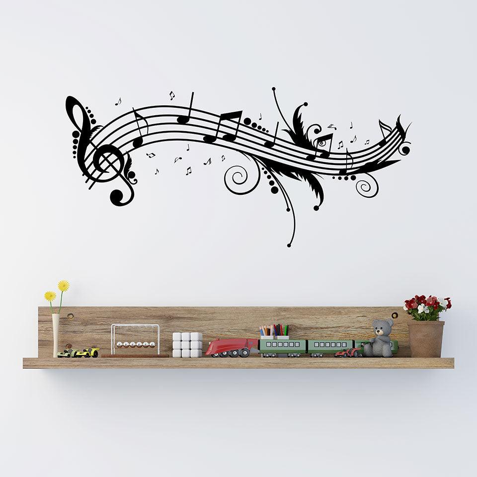 Beautiful Music Notes Wall Decal