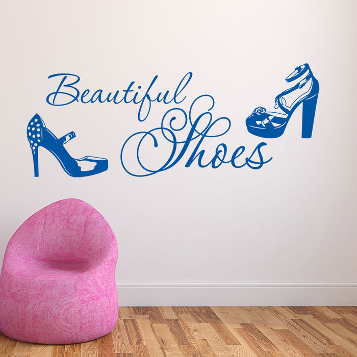 Beautiful Shoes Wall Decal