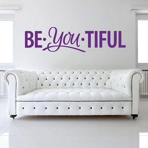 Beautiful You Wall Decal quote